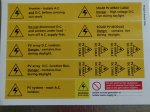 BS7671 Warning Labels